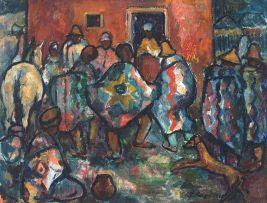 François Krige; Basotho Village Scene