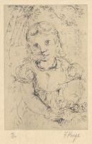 François Krige; Girl with Flowers