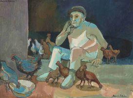 Alexander Podlashuc; Man with Chickens