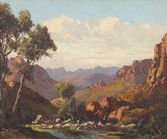 Tinus de Jongh; Mountain Landscape