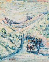 Jack Lugg; Herding Animals along Mountain Path