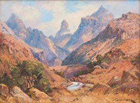 Willem Hermanus Coetzer; Mountain Landscape