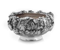 A Japanese silver bowl, Samurai Shokai, Yokohama, circa 1900