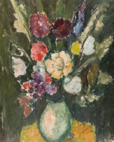 Pranas Domsaitis; Vase of Flowers