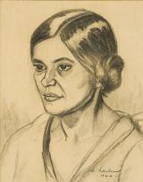 Maggie Laubser; Portrait of a Woman