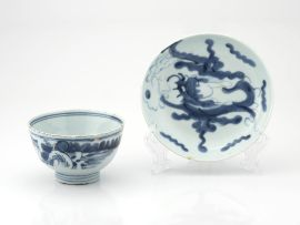 A Chinese blue and white provincial bowl, Qing Dynasty, 19th century