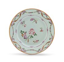 A Chinese Export famille-rose plate, Qing Dynasty, Qianlong period (1735-1796)