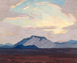Jacob Hendrik Pierneef; Landscape with Mountains