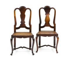 A pair of Cape rare and important Queen Anne style stinkwood side chairs, 1730–1760