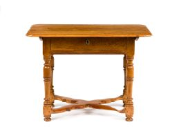 A Cape teak peg-top tea table, 18th century