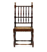 A Cape stinkwood and teak tolletjie chair, circa 1730