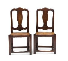 A pair of Cape stinkwood Queen Anne style side chairs, first half 18th century