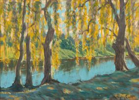 Sydney Carter; Willows on the River at Kronstadt
