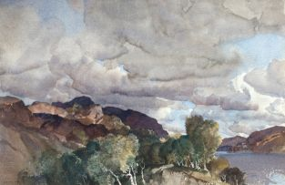 Sir William Russell Flint; East of Ben Vorlich (Loch Earn)