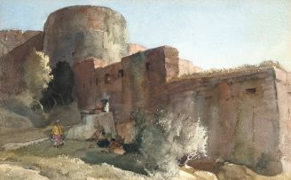 Sir William Russell Flint; The Great Bastion, Montreuil-sur-Mer