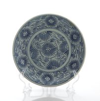 A provincial blue and white dish, 19th century