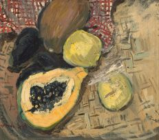 Freida Lock; Still Life with Pawpaw