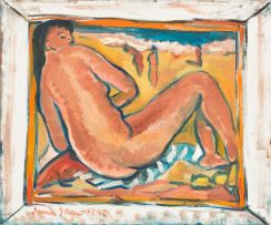Irma Stern; Figure on the Beach