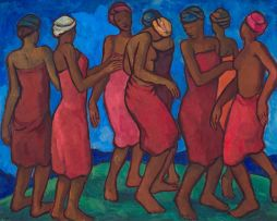 François Krige; Basotho Women Dancing
