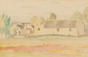 Jacob Hendrik Pierneef; Old Houses in Bredasdorp, K. P.