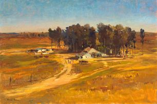Adriaan Boshoff; Landscape with Farmhouse