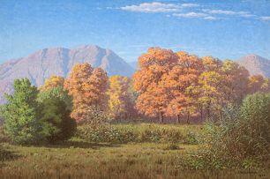 Jan Ernst Abraham Volschenk; Autumn: Pear Trees (Phizantfontein, Riversdale)