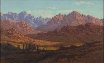 Tinus de Jongh; Mountainous Landscape