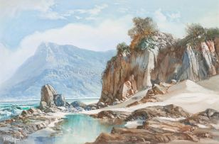 Gabriel de Jongh; Coastal Landscape