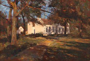 Errol Boyley; A Cape Homestead through Trees