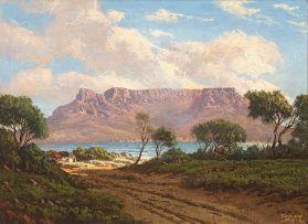 Tinus de Jongh; Table Mountain from Across the Bay