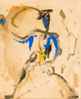 Lippy (Israel-Isaac) Lipshitz; Figure in Blue and Yellow