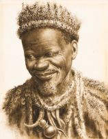 Gerard Bhengu; Portrait of an Old Man