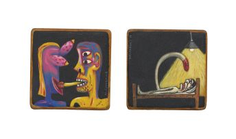 Norman Catherine; Diptych