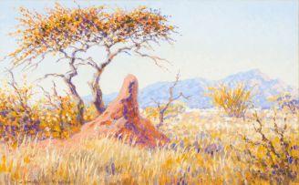 Johannes Blatt; Landscape with Termite Mound (near Omaruru)