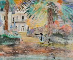 Catherine Paynter; Grahamstown Mansion and Rock Pigeons