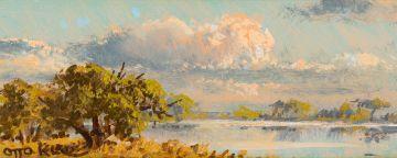 Otto Klar; River Landscape