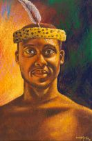 Velaphi (George) Mzimba; Portrait of a Zulu Warrior