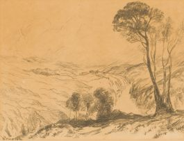 Edward Roworth; Landscape with River Valley and Trees