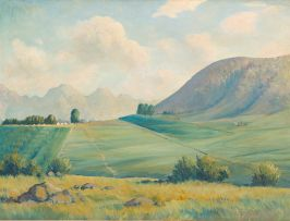 L E Wiesner; Farm Landscape
