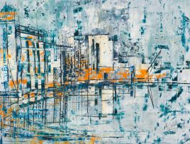 Arthur Edward Cantrell; Abstract Urban Scene