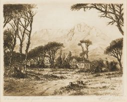 Tinus de Jongh; Devil's Peak from Rondebosch