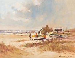 Christiaan Nice; Fishermen's Cottages and Boats