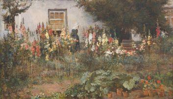Frans Oerder; In die Blomtuin