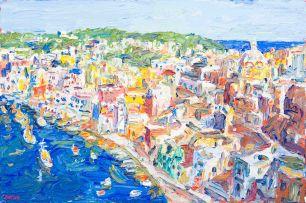 Gerhard Batha; View of Coastal Town