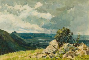 Alan Wolton; View over Umgeni Poort towards Fort Nottingham, KwaZulu-Natal