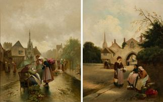 James Walter Gozzard; Market Day; Chatter, two