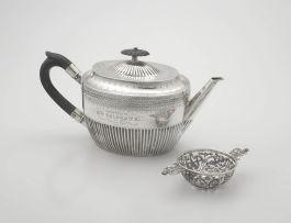A Victorian silver teapot, William Hutton & Sons, London, 1882