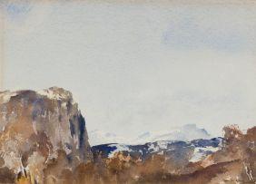 Francis Murray Russell Flint; Corrie Lair – Achnasaalloch (sic) (Coire Lair, Achnashellach, Scotland)