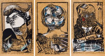 William Kentridge; Art in a State of Grace; Art in a State of Hope (Tatlin in Berea); Art in a State of Siege (100 Years of Easy Living), three