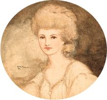 William Timlin; Portrait of a Lady, miniature